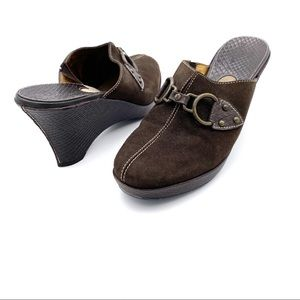 Cole Haan Jianna Suede Brown Mule Clogs Size 8.5B